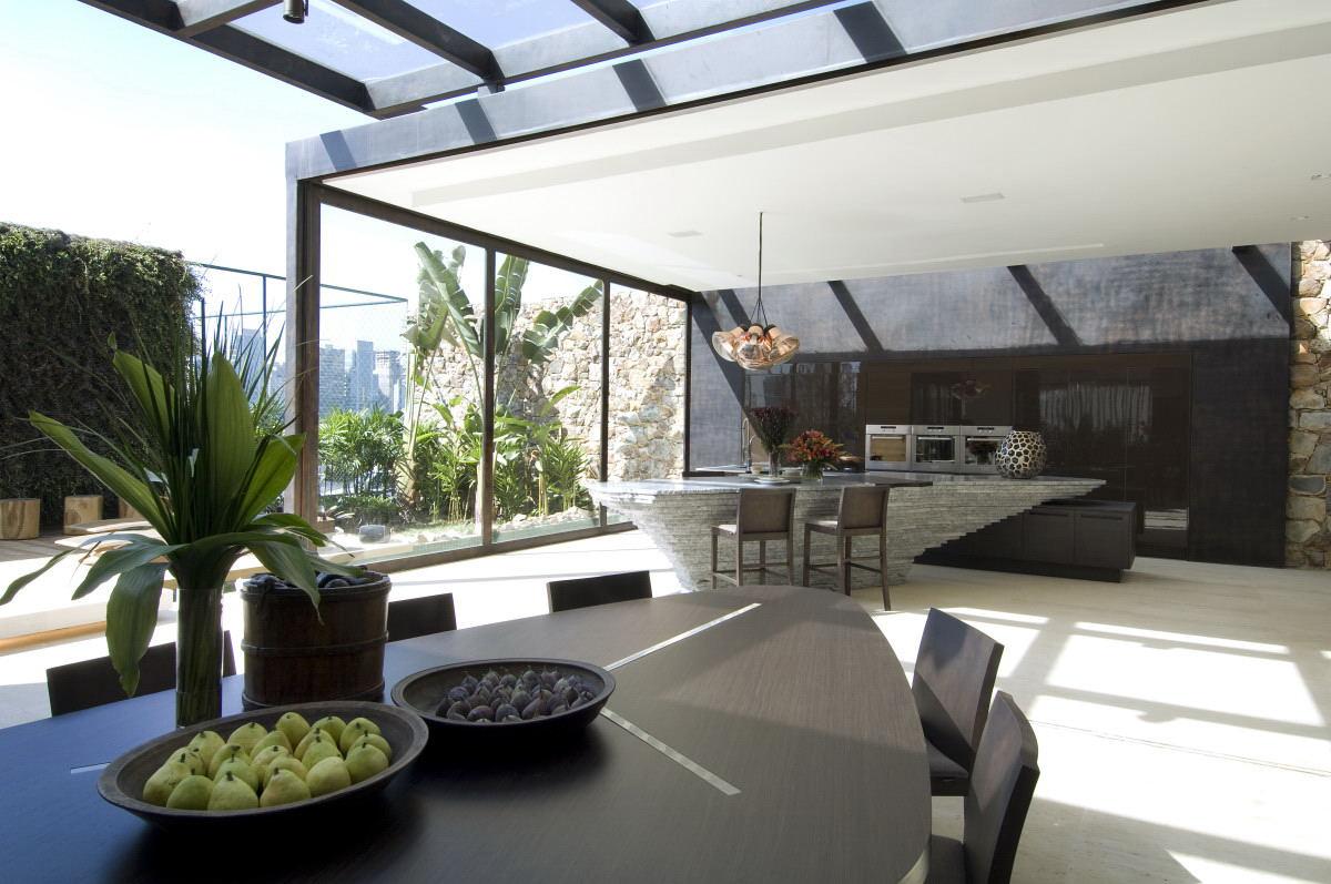 techos terrazas policarbonato - Cortinas de cristal, la elección más ecológica